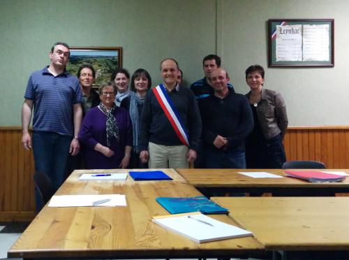 Conseil municipal 2014 de Leynhac