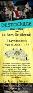 Flyer spectacle destockage Leynhac