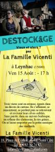 Flyer spectacle destockage Leynhac