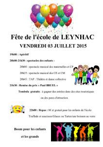Fête de l'école 2015