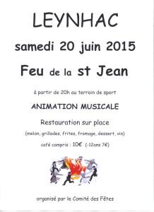 Affiche Feu de la Saint Jean 2015