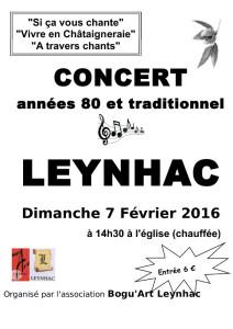 Affiche Bogu'art concert 2016